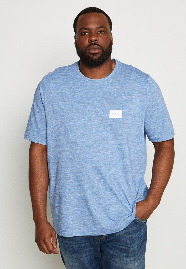 MOULINE CHEST LOGO - T-shirt print - blue