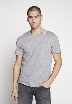 NECK LOGO - T-shirt z nadrukiem - grey