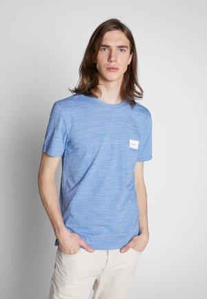 MOULINE CHEST LOGO - Print T-shirt - blue