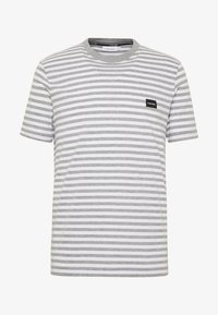 Calvin Klein - STRIPE CHEST LOGO  - Triko spotiskem - white/grey - 4