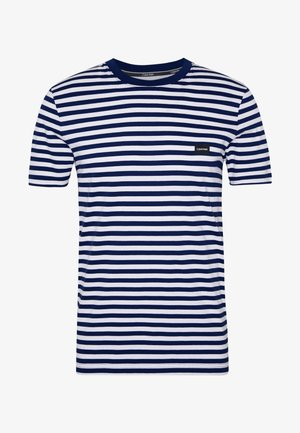 STRIPE CHEST LOGO  - T-shirt z nadrukiem - blue
