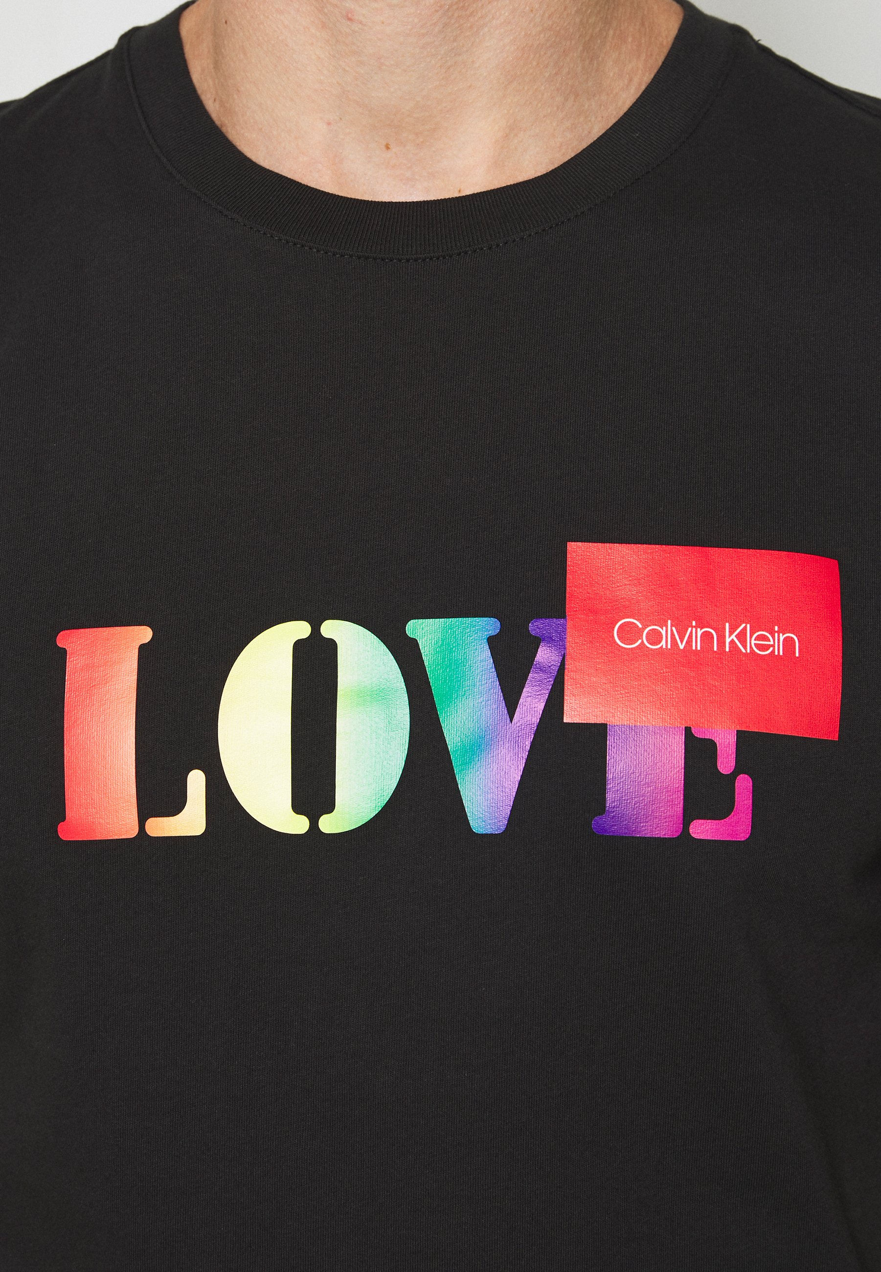 Calvin Klein PRIDE T shirt imprimé black ZALANDO.FR