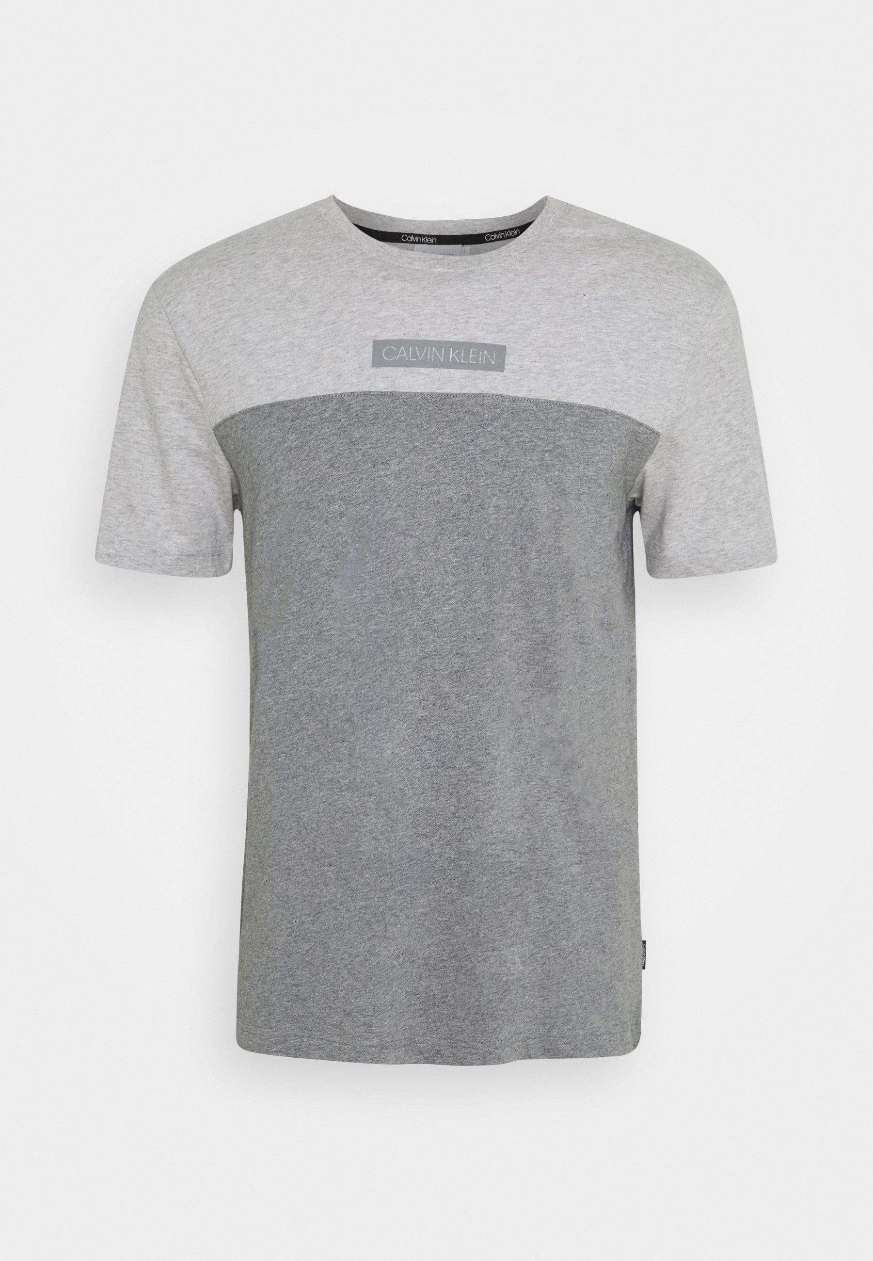 Calvin Klein COLOR BLOCK T shirt imprimé white ZALANDO.FR