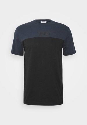 COLOR BLOCK - Print T-shirt - dark blue, black