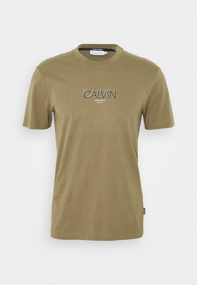 SMALL TONE LOGO - T-Shirt print - green