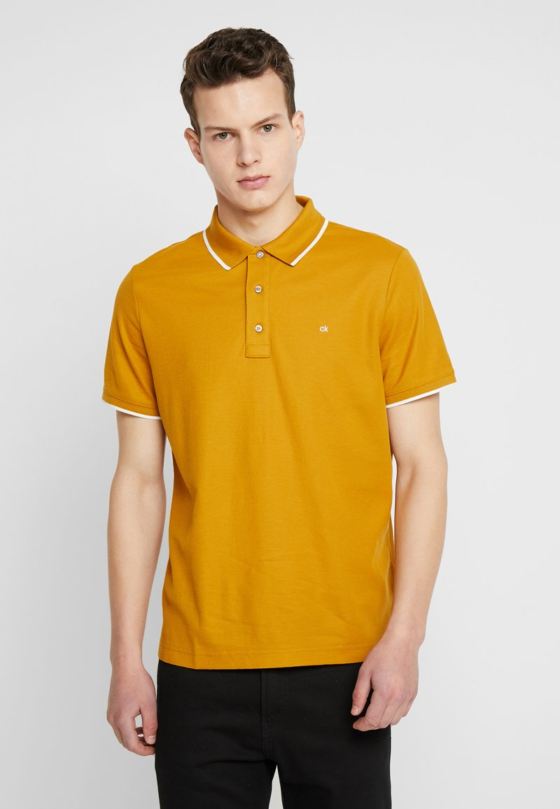Calvin Klein - REFINED LOGO TIPPING - Polo - gold