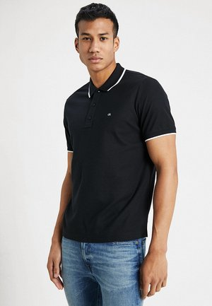 REFINED LOGO TIPPING - Polo shirt - black