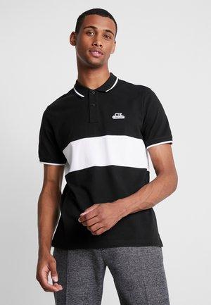COLOR BLOCK VINTAGE BADGE - Polo shirt - black