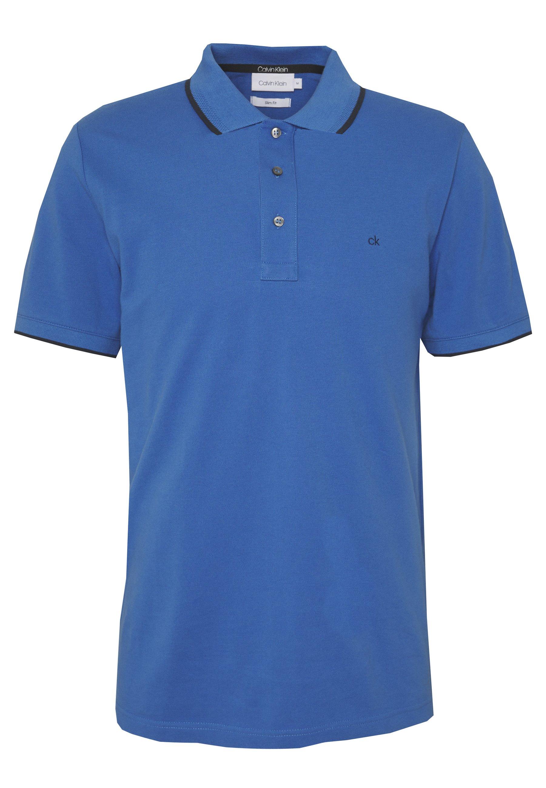 Calvin Klein Tipping Slim - Poloshirts Blue