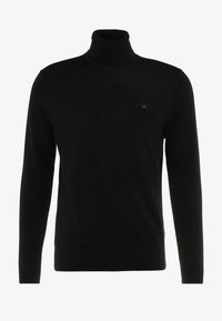 Calvin Klein Tailored - SUPERIOR TURTLE NECK - Neule - black - 3