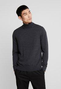 Calvin Klein Tailored - SUPERIOR TURTLE NECK - Svetr - grey - 0