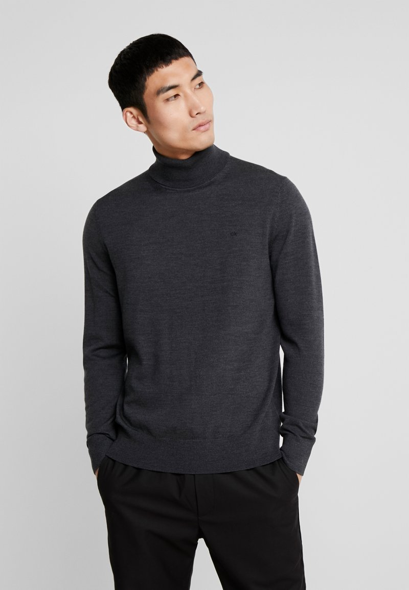 Calvin Klein Tailored - SUPERIOR TURTLE NECK - Svetr - grey