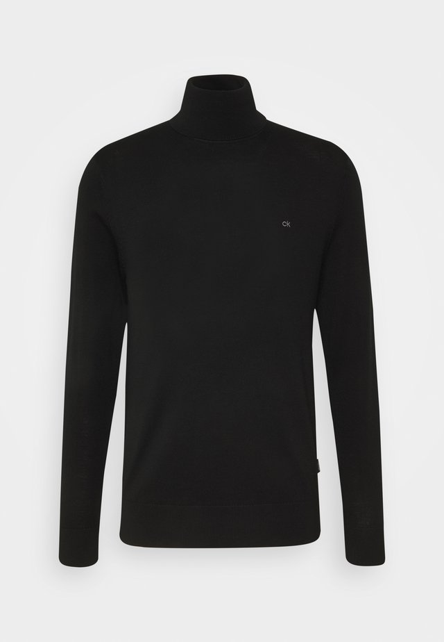 SUPERIOR TURTLE NECK - Strikkegenser - black