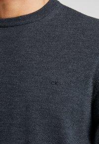 Calvin Klein Tailored - SUPERIOR CREW NECK  - Stickad tröja - grey - 5