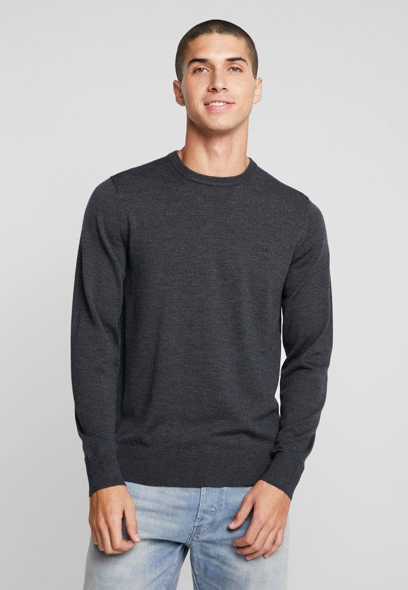 Calvin Klein Tailored - SUPERIOR CREW NECK  - Stickad tröja - grey
