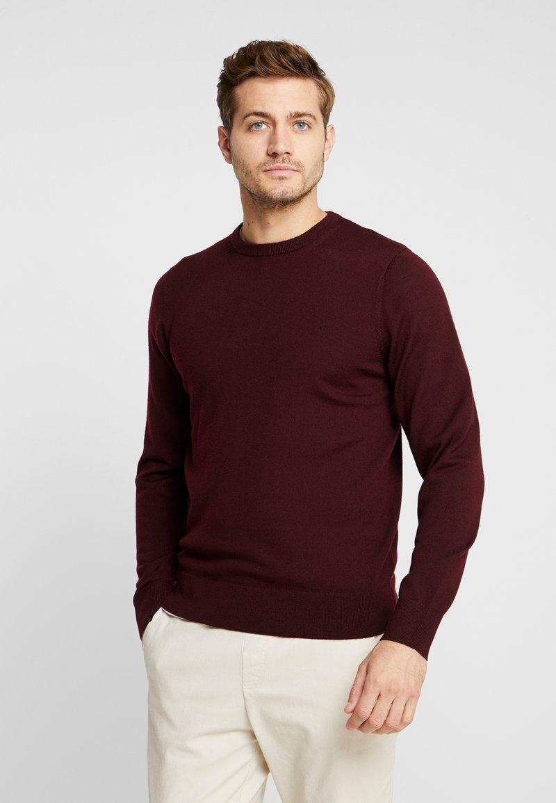 Calvin Klein Tailored - SUPERIOR CREW NECK  - Strickpullover - red