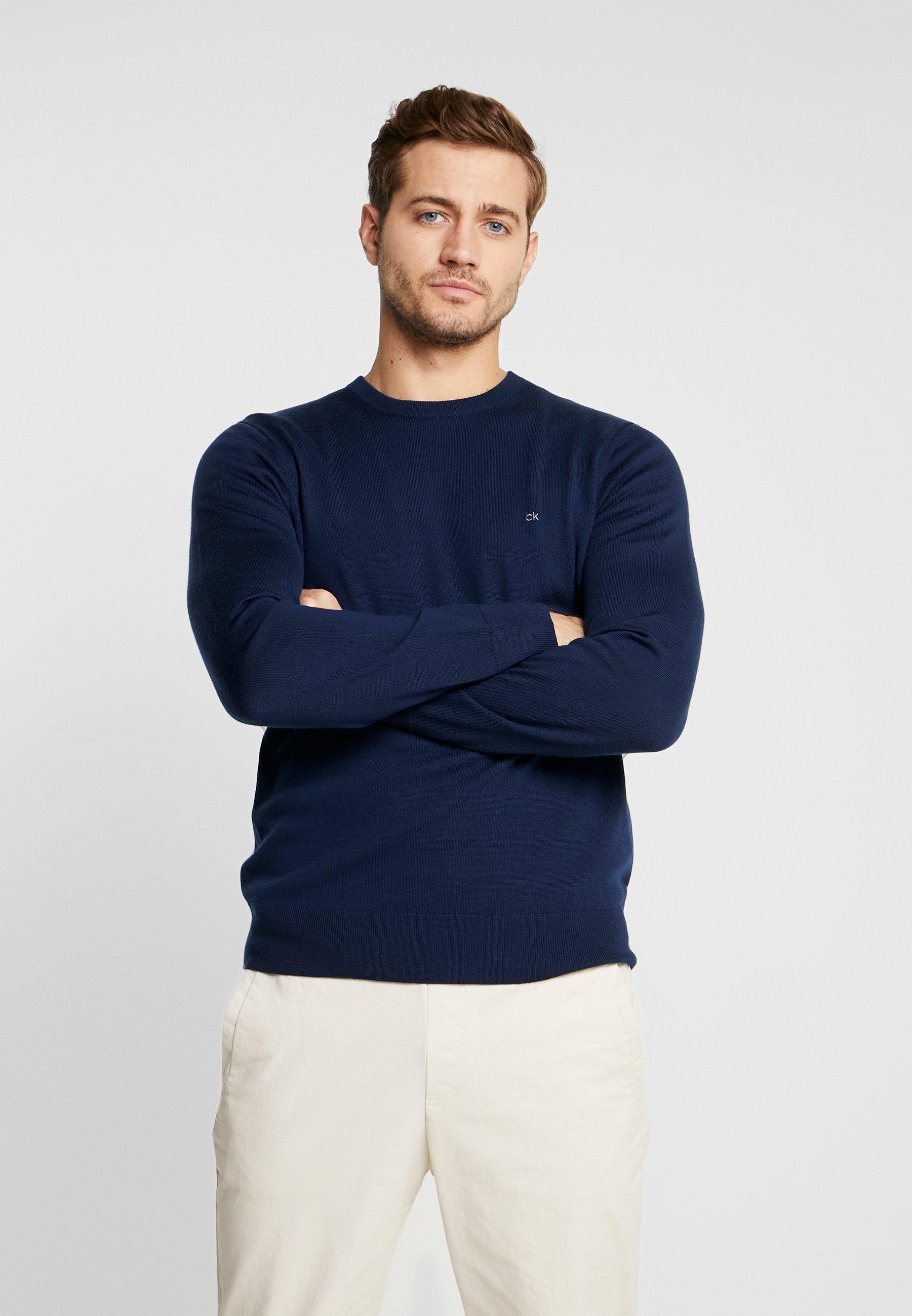 NeckMaglione Blue Crew Klein Calvin Superior Tailored 2DHIE9