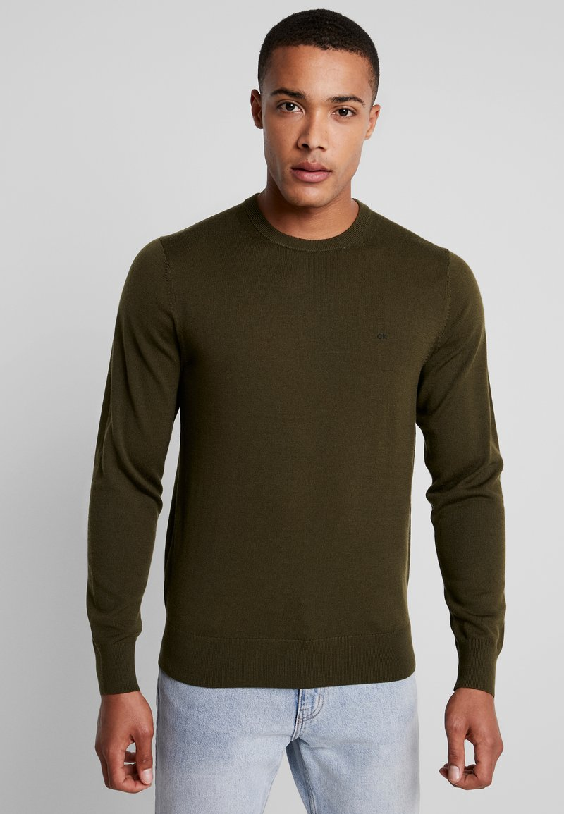Calvin Klein Tailored - SUPERIOR CREW NECK  - Svetr - green