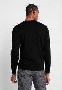 Calvin Klein Tailored - SUPERIOR CREW NECK  - Jersey de punto - black - 2