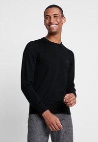 Calvin Klein Tailored - SUPERIOR CREW NECK  - Jersey de punto - black - 0