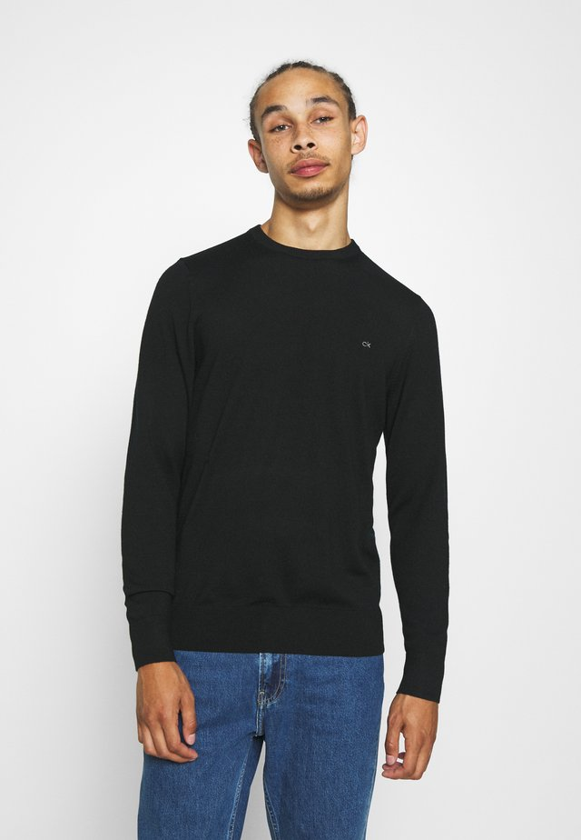 SUPERIOR CREW NECK  - Stickad tröja - black