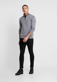 Calvin Klein - SUPERIOR ZIP MOCK - Pullover - grey - 1