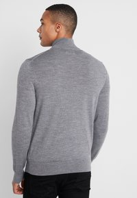 Calvin Klein - SUPERIOR ZIP MOCK - Pullover - grey - 2