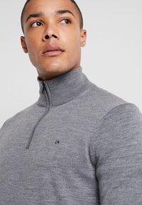 Calvin Klein - SUPERIOR ZIP MOCK - Pullover - grey - 4