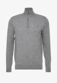 Calvin Klein - SUPERIOR ZIP MOCK - Pullover - grey - 3