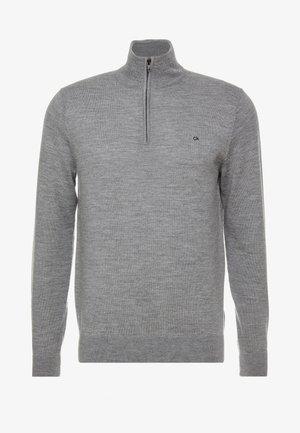 SUPERIOR ZIP MOCK - Pullover - grey
