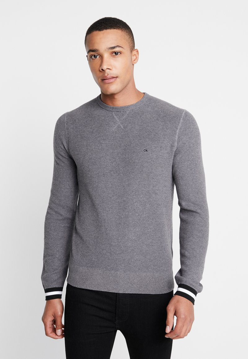 Calvin Klein - RICE STITCH TIPPING - Jumper - grey