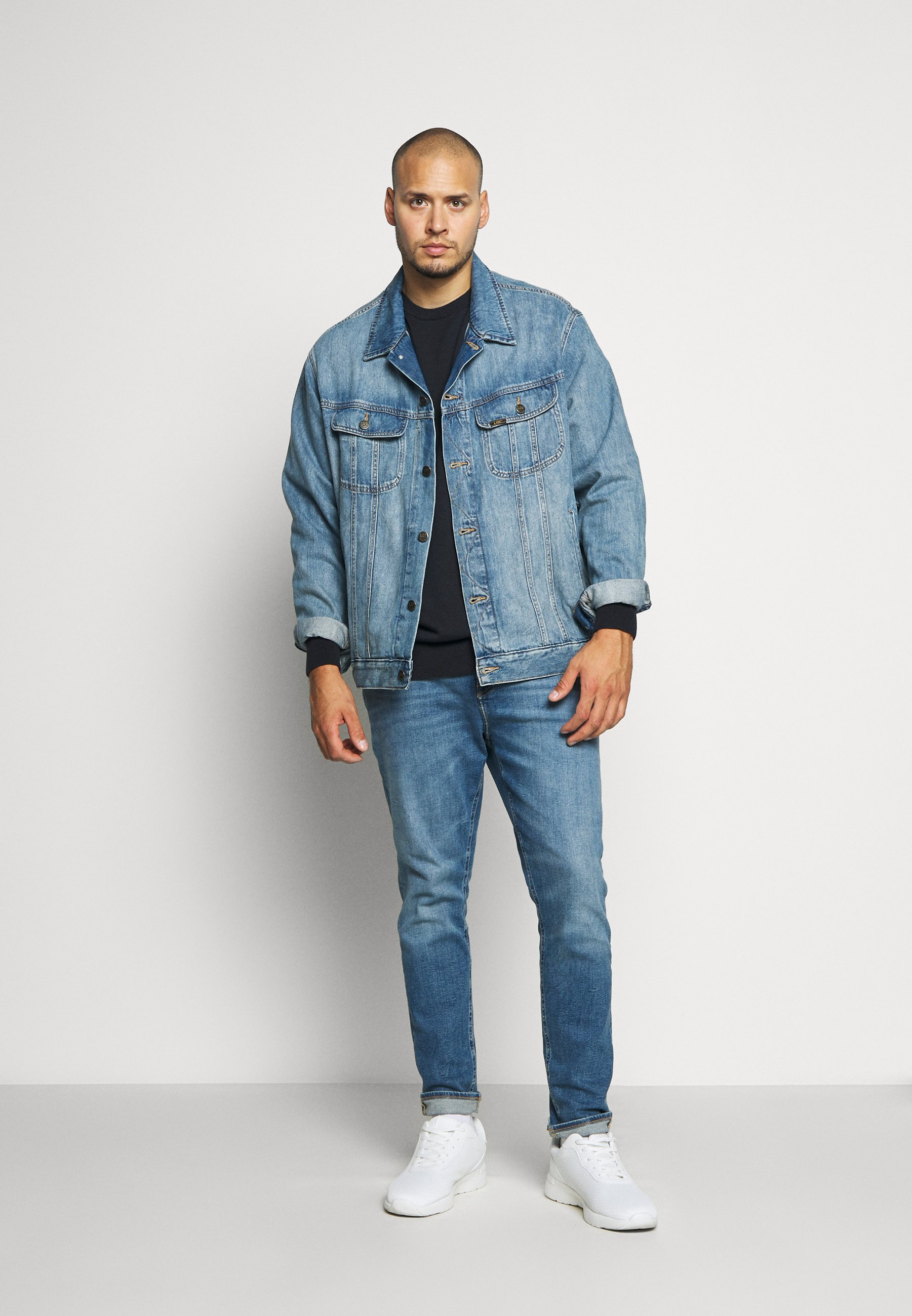 Calvin Klein Neck - Strikpullover /striktrøjer Blue