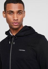 Calvin Klein - EMBROIDERY ZIP-THROUGH HOODIE - Felpa aperta - black - 4