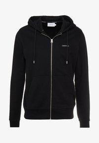 Calvin Klein - EMBROIDERY ZIP-THROUGH HOODIE - Felpa aperta - black - 3