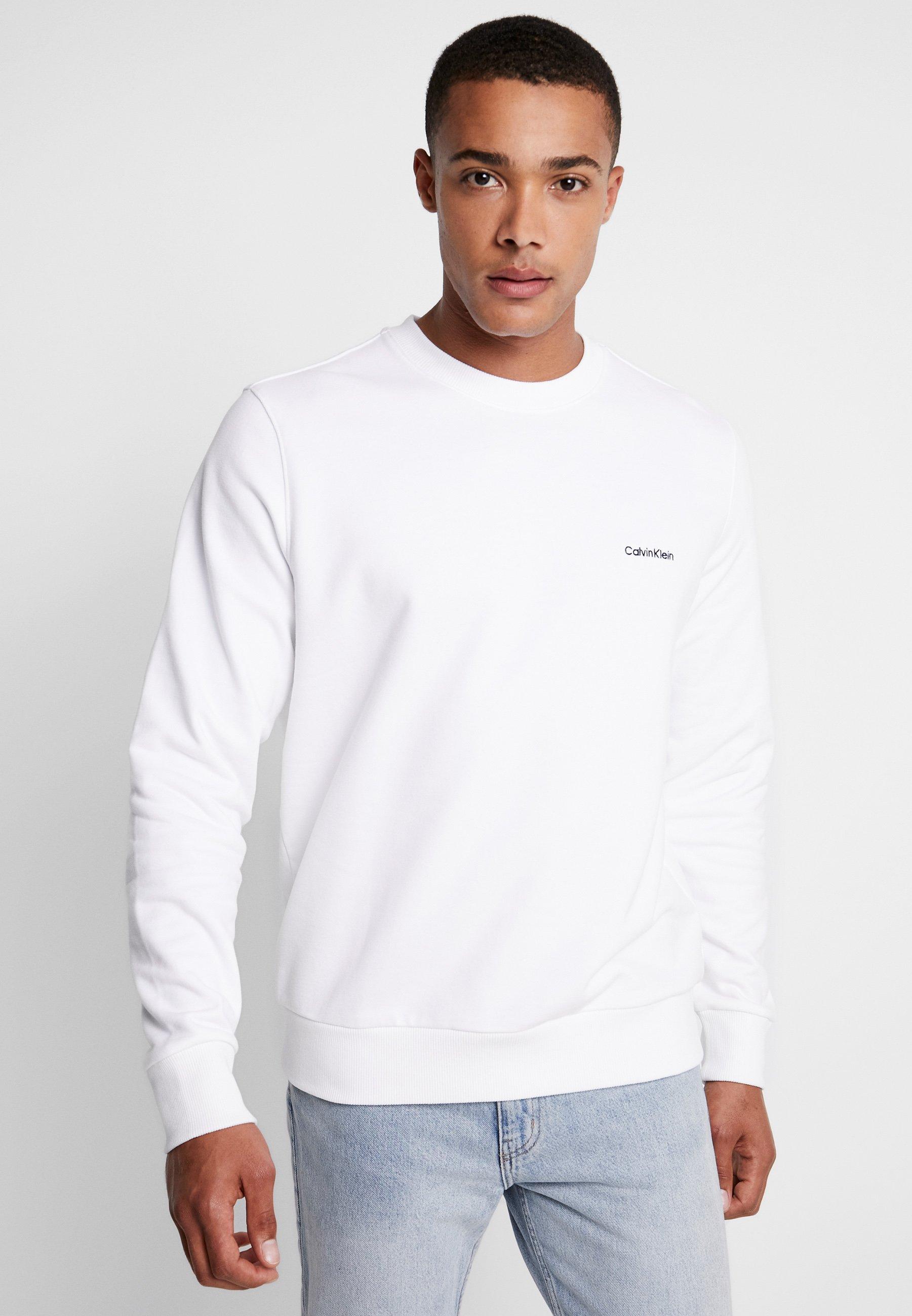 Calvin Klein CHEST EMBROIDERY - Bluza - white
