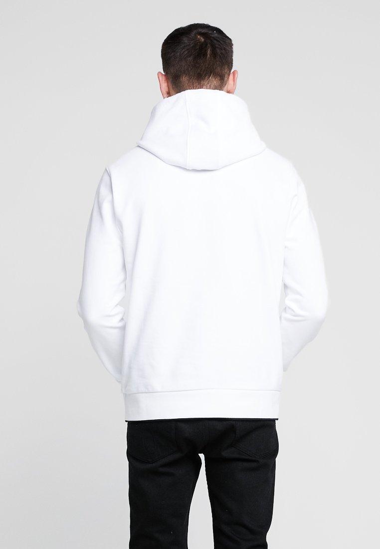 White Capuche Calvin HoodieSweat À Klein Front Logo Tipping KFJl1Tc