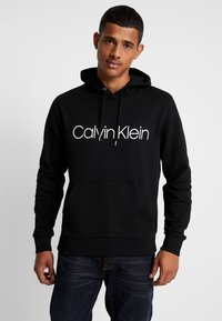 Calvin Klein - LOGO HOODIE - Sweat à capuche - black - 0