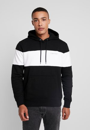 COLOR BLOCK LOGO HOODIE - Hoodie - black