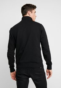Calvin Klein - COLOR BLOCK LOGO ZIP MOCK - Mikina na zip - black - 2