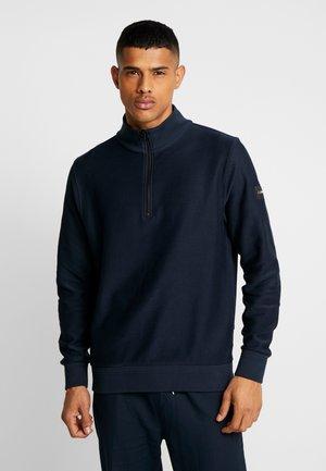 TONAL HALF ZIP MOCK NECK - Sweatshirt - blue