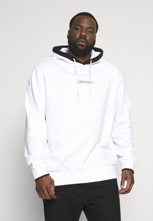 SMALL LOGO TIPPING HOODIE - Mikina skapucí - white