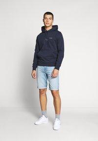Calvin Klein - LOGO EMBROIDERY HOODIE - Huppari - blue - 1