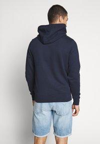 Calvin Klein - LOGO EMBROIDERY HOODIE - Huppari - blue - 2