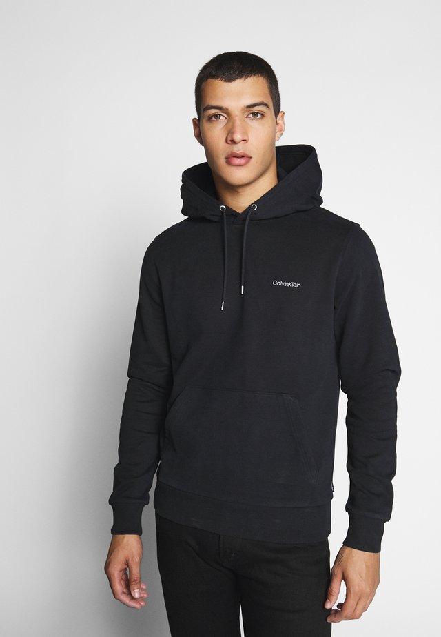 LOGO EMBROIDERY HOODIE - Bluza z kapturem - black