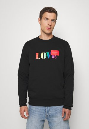PRIDE LOVE LOGO CREW NECK - Sweatshirt - black