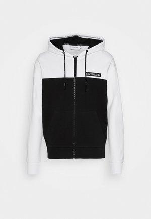 COLOR BLOCK ZIP THROUGH HOODIE - Bluza rozpinana - black/white