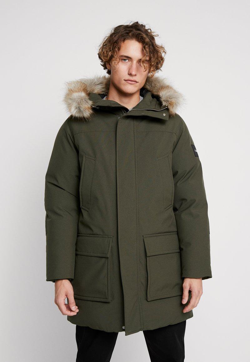 Calvin Klein - LONG LENGTH PREMIUM  - Winter coat - green