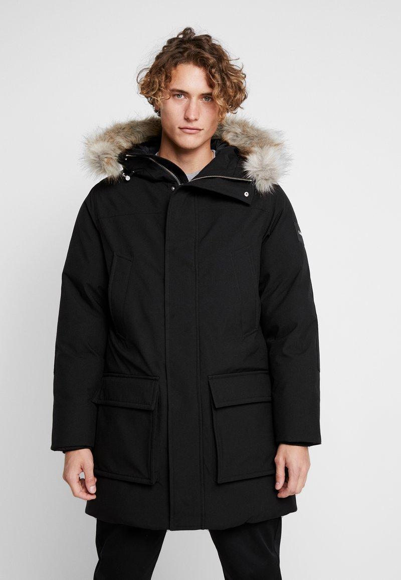 Calvin Klein - LONG LENGTH PREMIUM  - Talvitakki - black