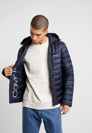 HOODED WADDED JACKET - Veste mi-saison - blue