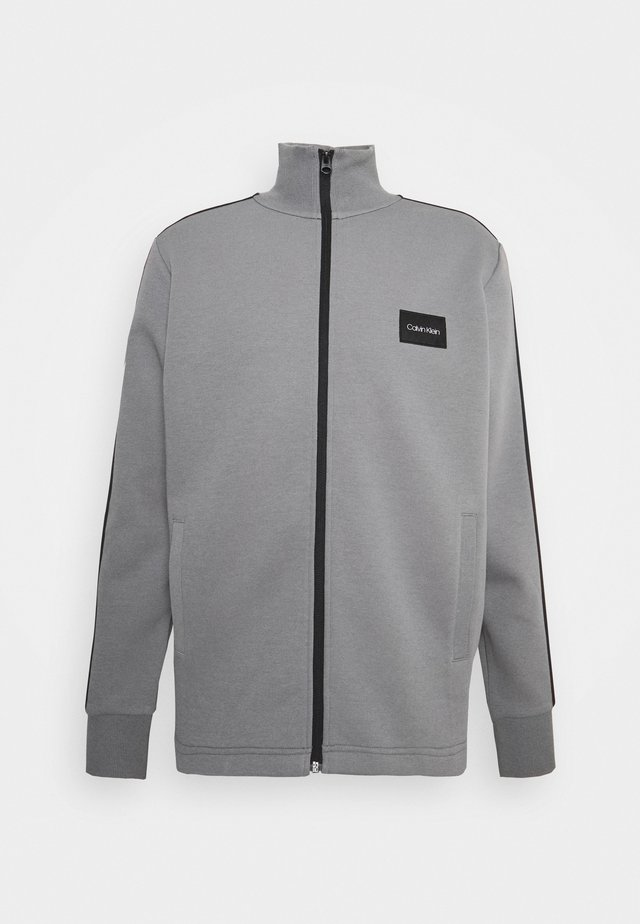 SOLID MIX BACK LOGO JACKET - Veste de survêtement - grey